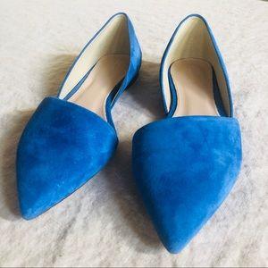 NEW Jcrew ponty toe flat, blue, size 6